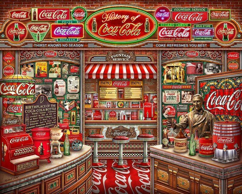 Coca-Cola History - 1000 Piece Springbok Puzzle
