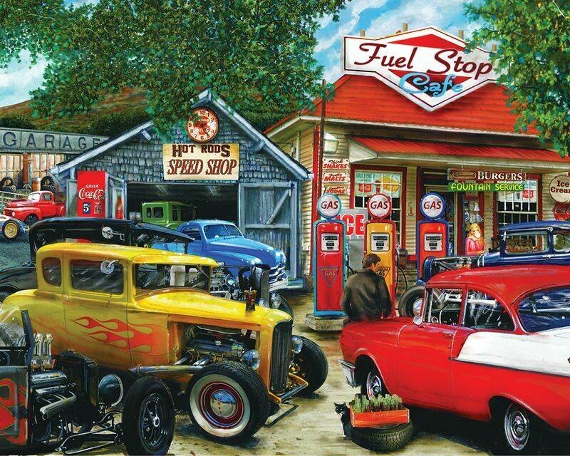 Hot Rod Cafe - 1000 Piece Springbok Puzzle