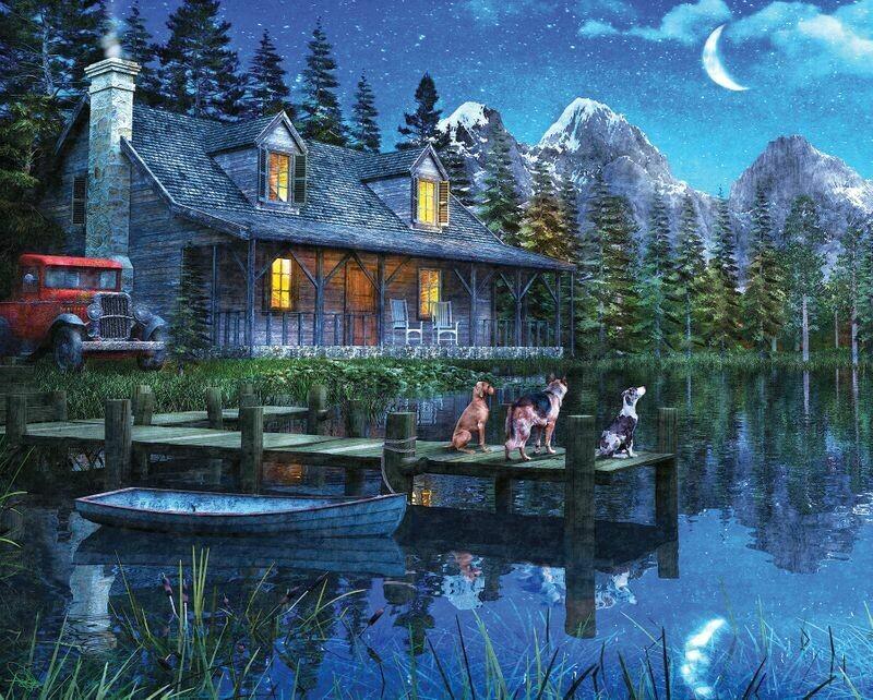 Moonlit Night - 1000 Piece Springbok Puzzle