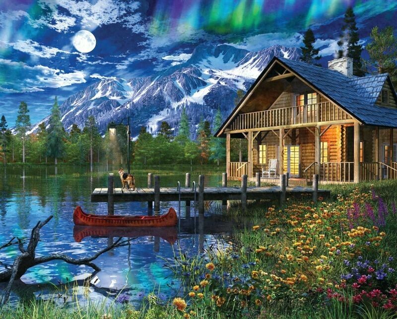 Moon Cabin Retreat - 1000 Piece Springbok Puzzle