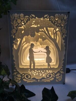 Love Is - Paper Art Led Light Box