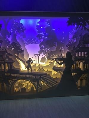 Musical Fairy - Paper Art Led Light Box