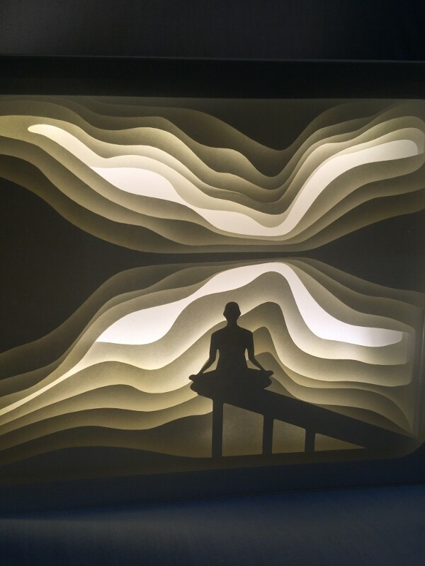 Meditation - Paper Art Led Light Box