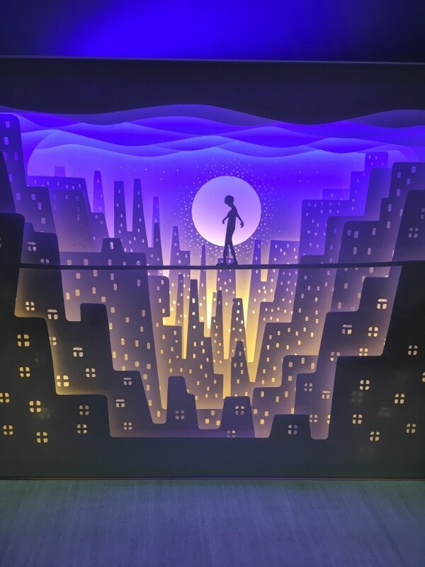 Alone - Paper Art Led Light Box