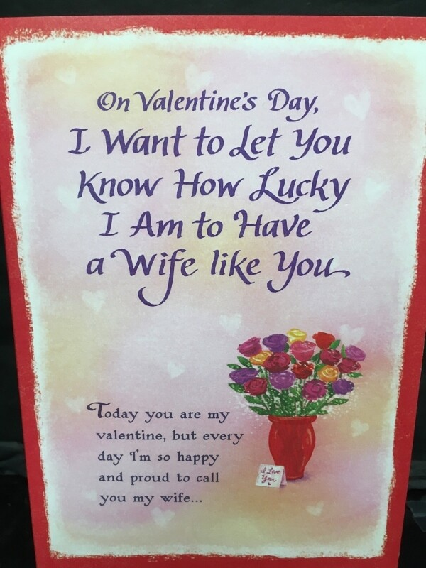 Valentine - On Valentine's Day, I want to Let you Know how lucky I am to have a Wife like you - Blue Mountain Arts Cards