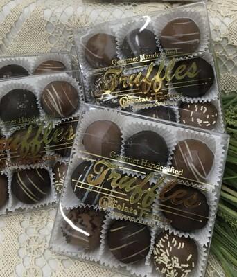 Gourmet Handcrafted Classic Truffles - 9 pcs - Milk and Dark Chocolate - 125g