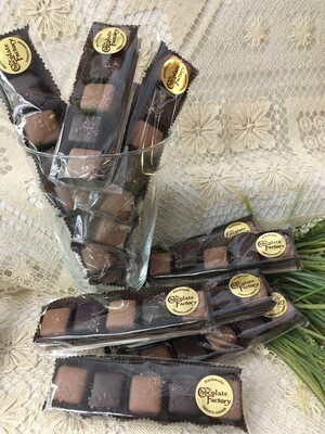 Gourmet Sea Salt Caramels - 5 Pcs - Milk and Dark chocolate - 80g