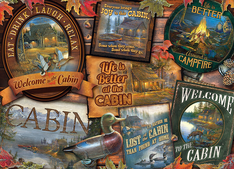 Cabin Signs - 1000 Piece Cobble Hill Puzzle