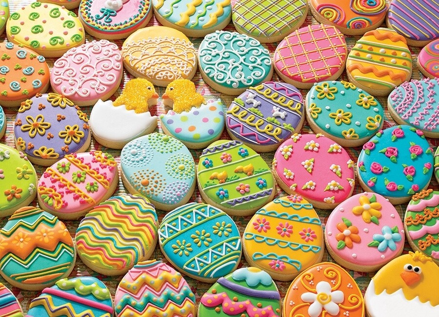 Easter Cookies - Family Pieces - 350 Piece Cobble Hill Puzzle