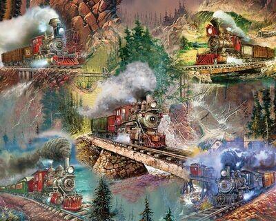 Thrilling Trains - 1000 Piece Springbok Puzzle
