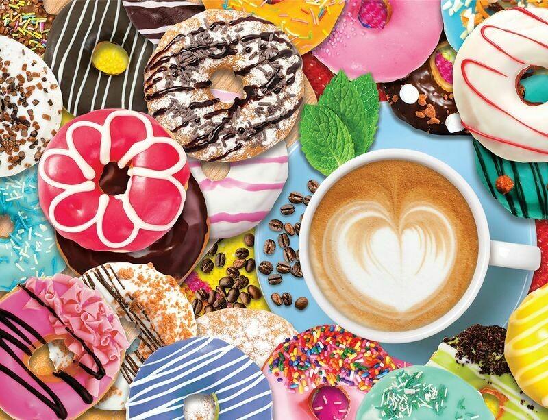 Donuts n' Coffee - 500 Piece Springbok Puzzle