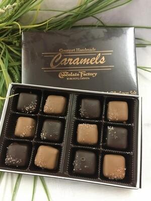 Gourmet Sea Salt Caramels - 12 Pcs - Milk and Dark Chocolate - 200g