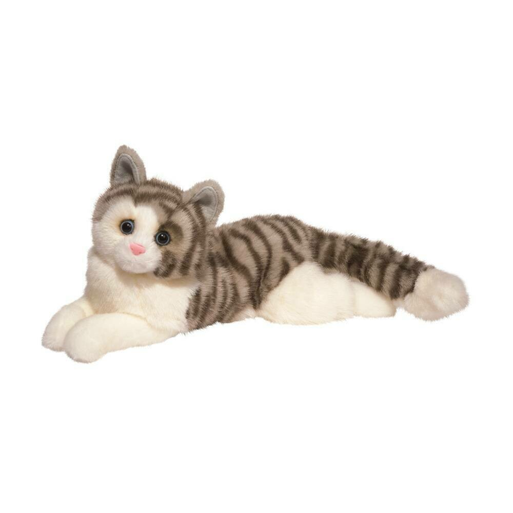 Smokey - Grey Striped Cat - 16 inch - Douglas Plush