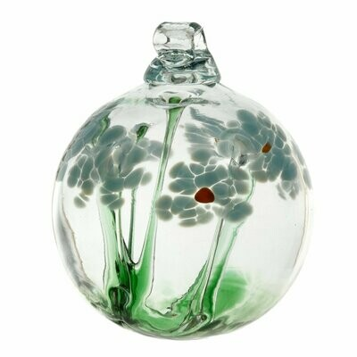 "2"" Blossom Friendship Ball - Memory - Canadian Blown Glass"