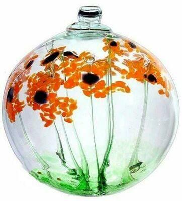 "2"" Blossom Friendship Ball - Happy Birthday - Canadian Blown Glass"