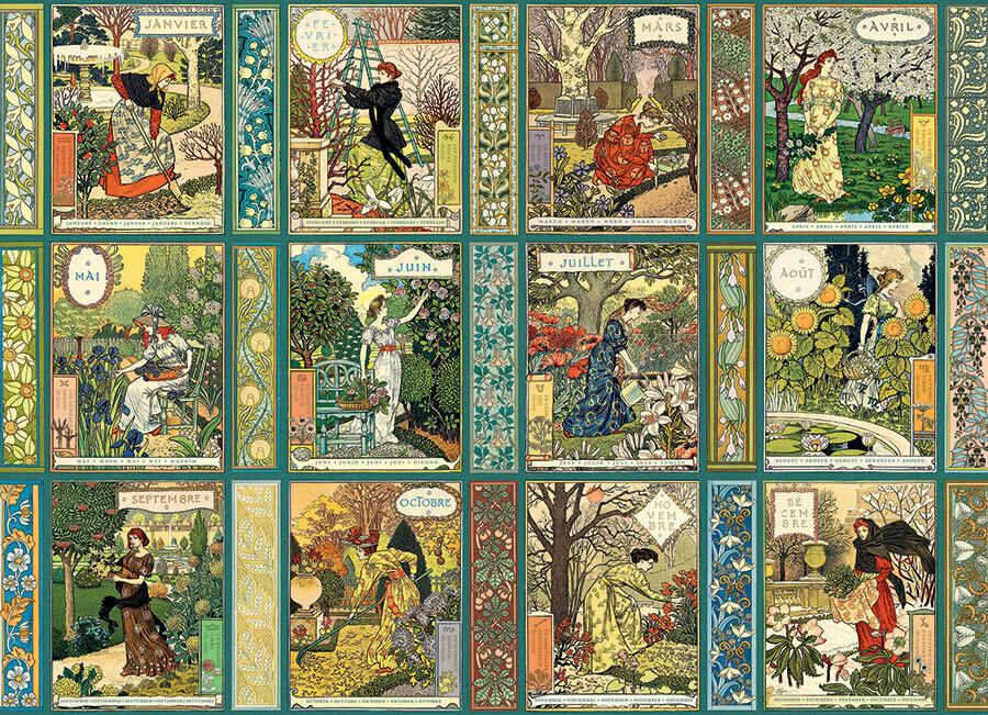 Jardiniere: A Gardener's Calendar  - 1000 Piece Cobble Hill Puzzle