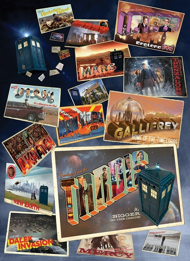 Doctor Who: Postcards - 1000 Piece Cobble Hill Puzzle