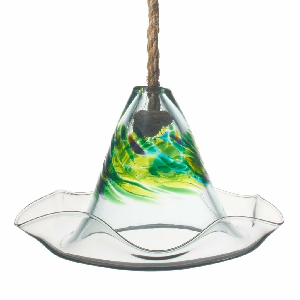 Kitras Art Glass Bird Feeder for Baltimore Orioles, Hummingbirds and others - Spring - Canadian Hand Blown Glass