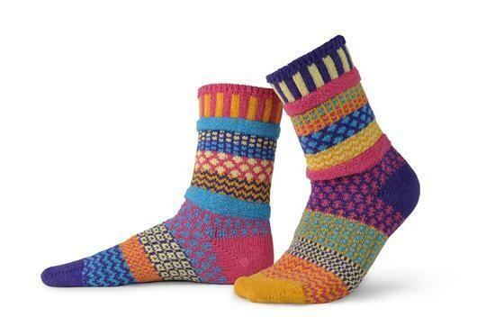 Sunny - Large - Mismatched Crew Socks - Solmate Socks