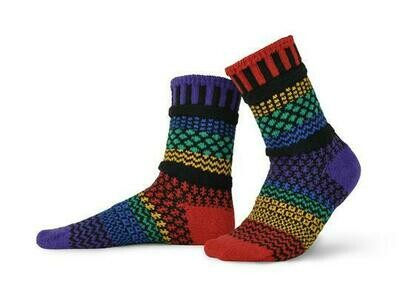 Gemstone - Large - Mismatched Crew Socks - Solmate Socks