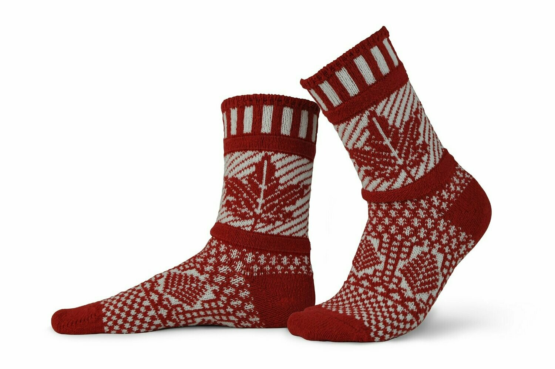 Canada Eh! - Large - Mismatched Crew Socks - Solmate Socks