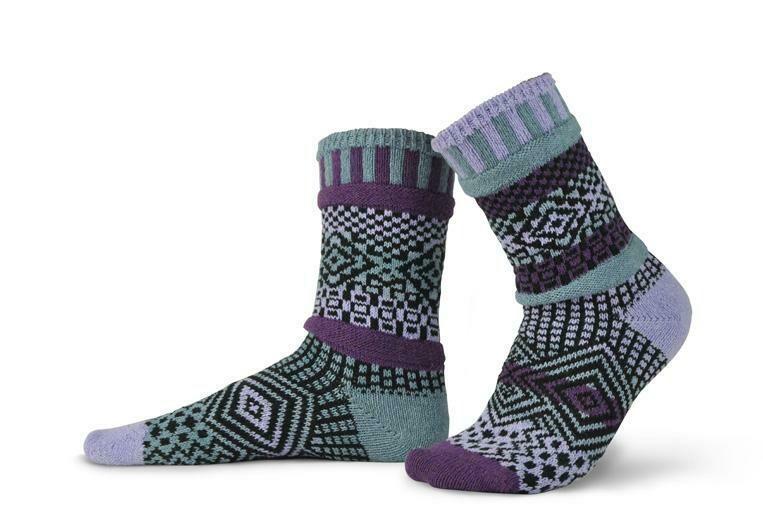 Wisteria - Large - Mismatched Crew Socks - Solmate Socks
