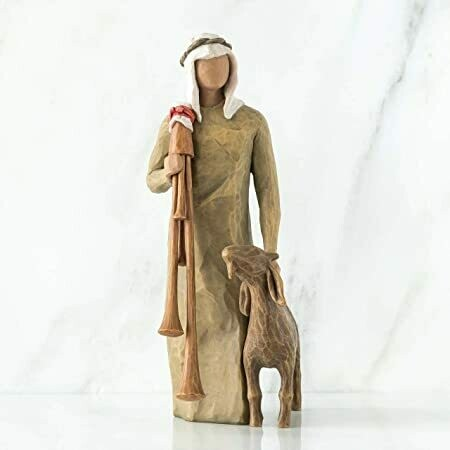 Willow Tree: Nativity Collection - Zampognaro - Shepherd with goat and bagpipes