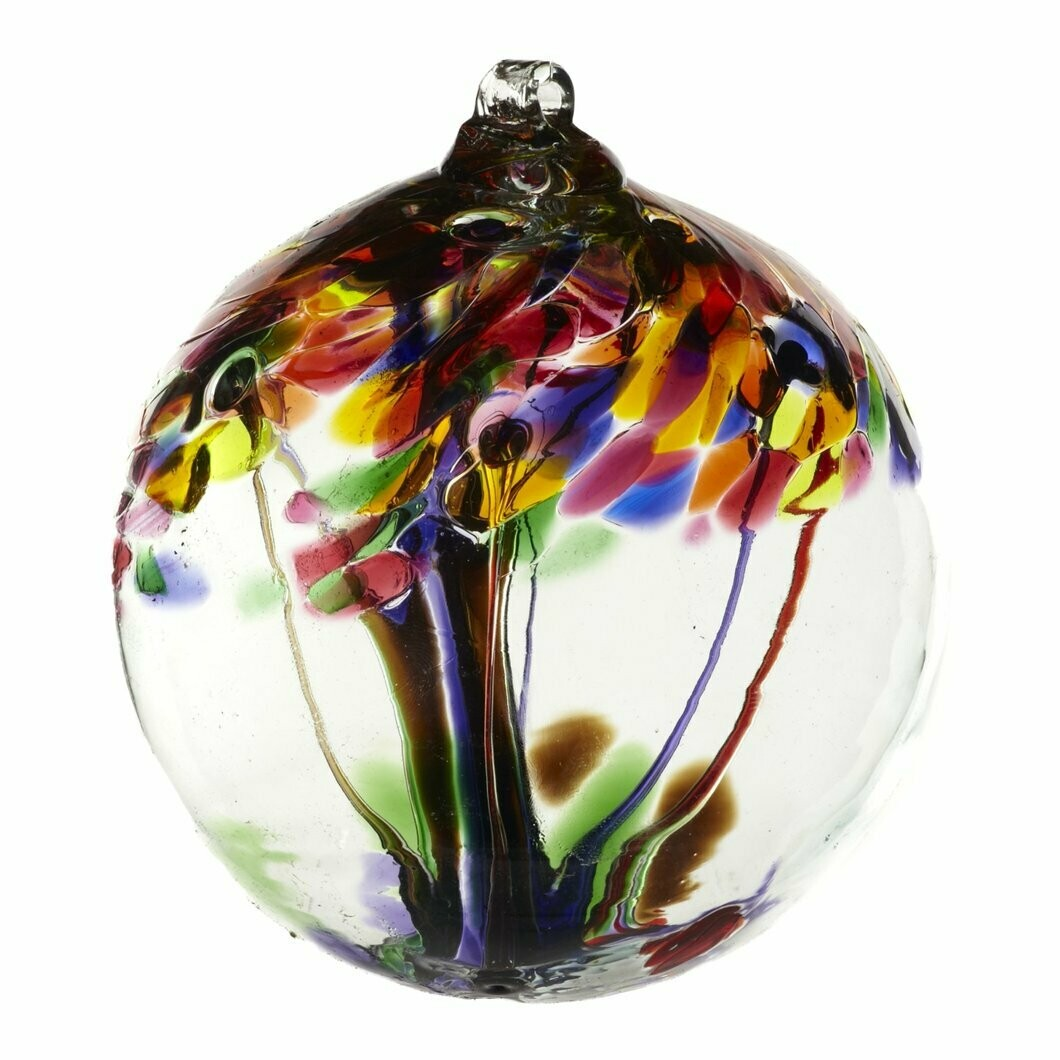 "Tree of Enchantment 6"" - Celebration - Friendship Ball - Canadian Blown Glass"