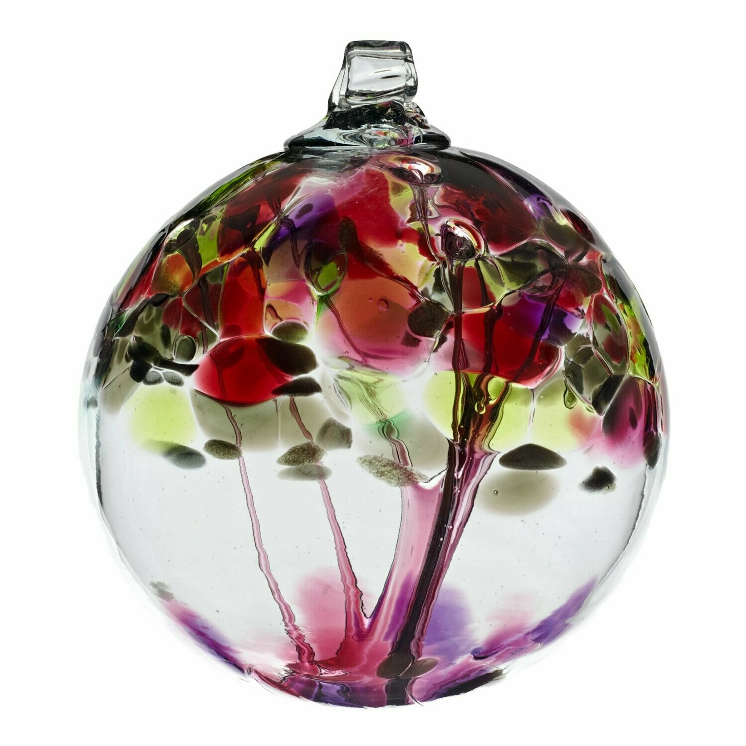 "2"" Tree of Enchantment Friendship Ball - Wishes - Canadian Blown Glass"