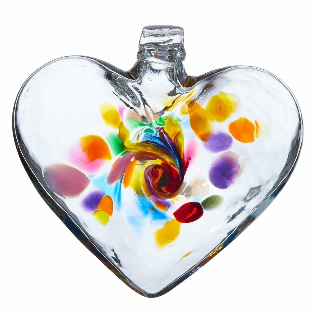 """3"""" Heart of Joy - Canadian Blown Glass"""