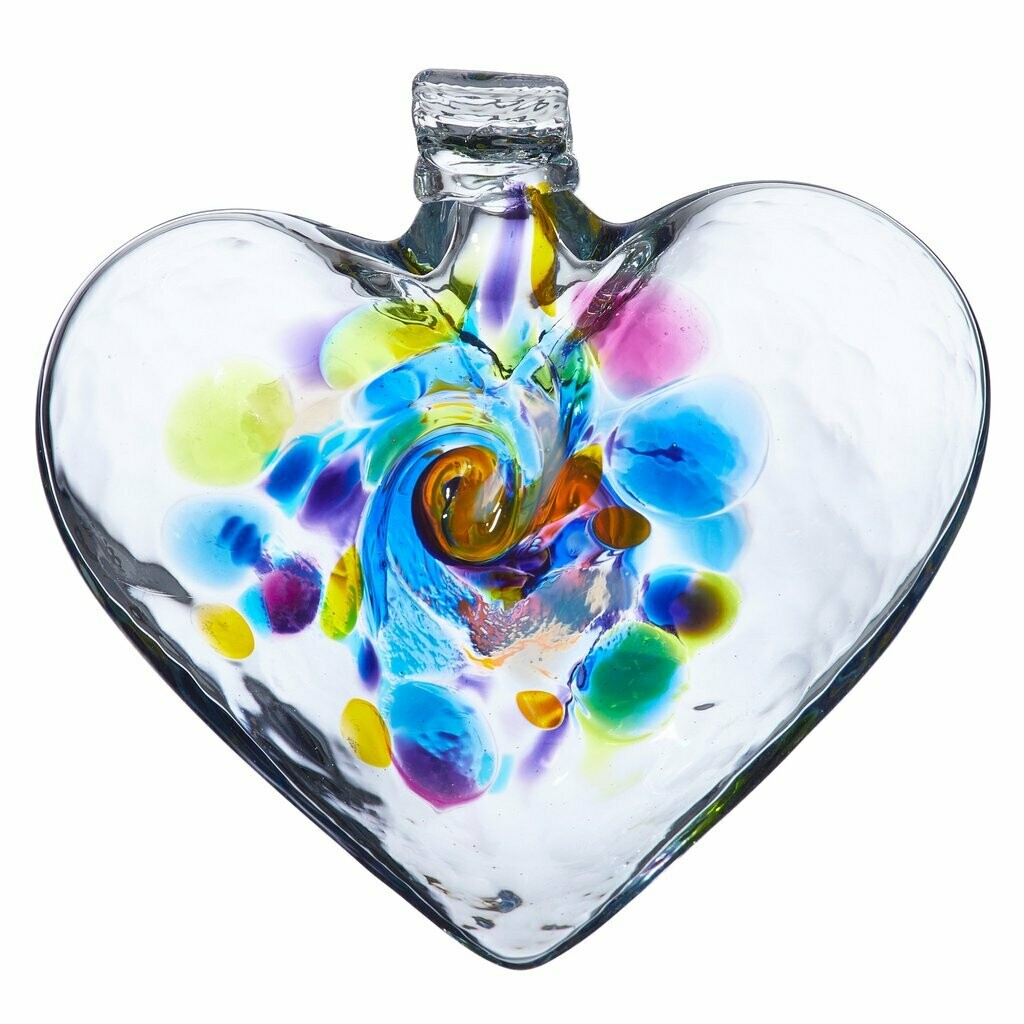 """3"""" Heart of Reflection - Canadian Blown Glass"""