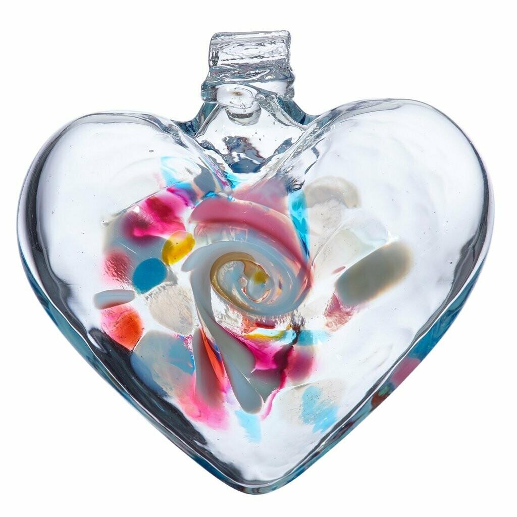 "3"" Heart of Memories - Canadian Blown Glass"