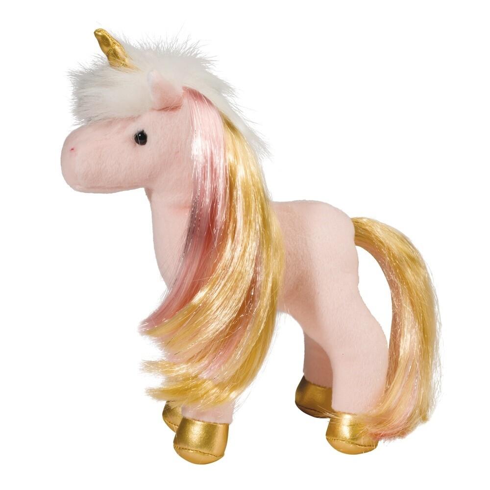 Mini Unicorn -  Suki - Light Pink Body with Gold/Pink Mane and Tail