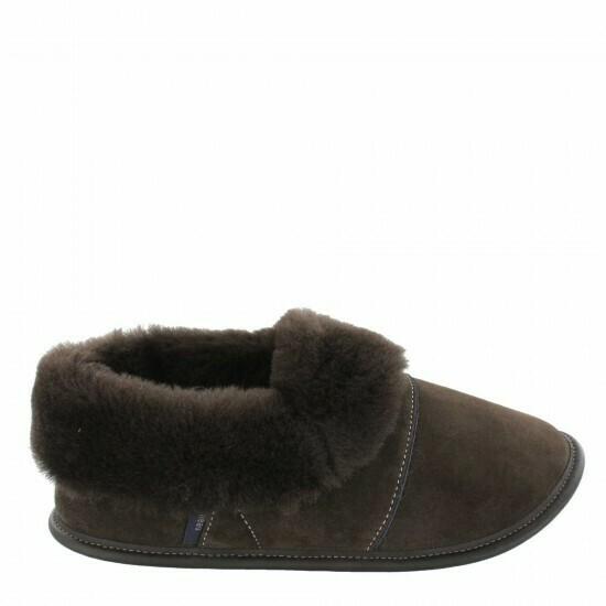 Mens Low-cut - 12/13, Brown / Brown Fur: Garneau Slippers