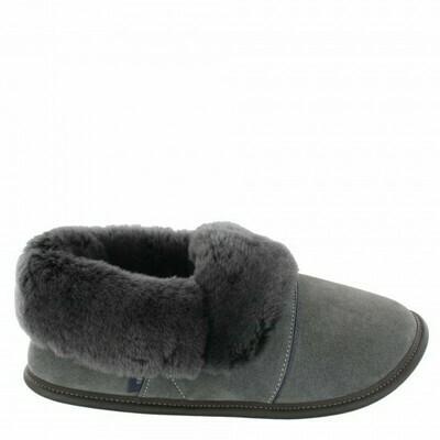 Ladies Low-cut - 9/10  Charcoal / Silverfox fur: Garneau Slippers