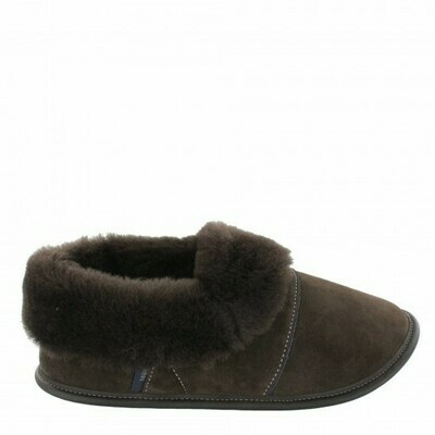 Ladies Low-cut - 9/10  Brown / Brown Fur: Garneau Slippers