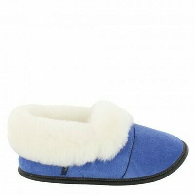 Ladies Low-cut - 6/7  Limoges blue / White Fur: Garneau Slippers