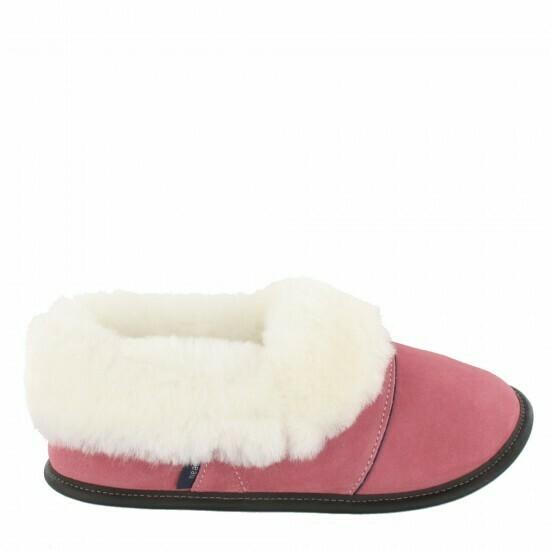 Ladies Low-cut - 9/10  Potpourri Rose - Pink / White Fur: Garneau Slippers