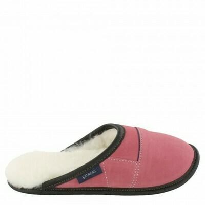 Ladies Slip-on - 6/7  Potpourri Rose / White Fur: Garneau Slippers