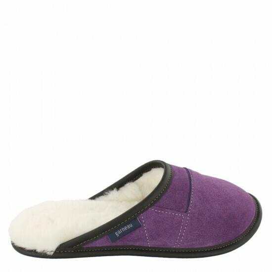 Ladies Slip-on - 6/7  Laser Purple / White Fur: Garneau Slippers