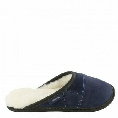Ladies Slip-on - 9/10  Navy / White Fur: Garneau Slippers