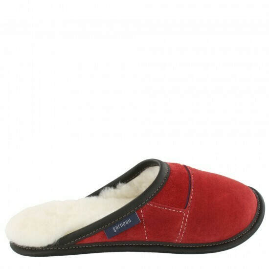 Ladies Slip-on - 7.5/8.5  Santa's Red / White Fur: Garneau Slippers