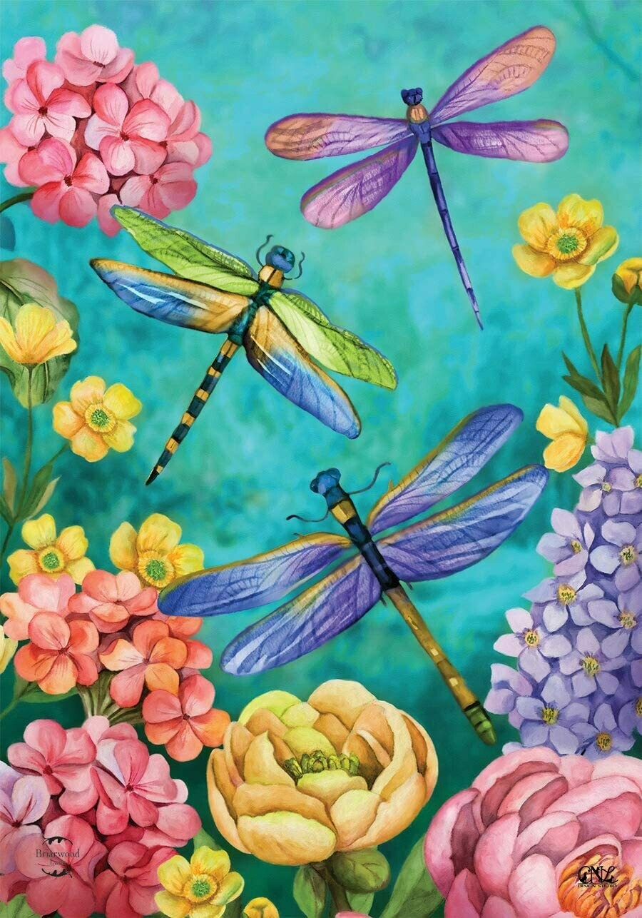 "Dragonfly Garden - House Flag - 28"" x 40"""