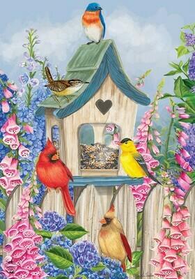 """Birds of Spring - Garden Flag - 12.5 """" x 18"""""""
