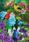 """Feathered Friends - House Flag - 28"""" x 40"""""""