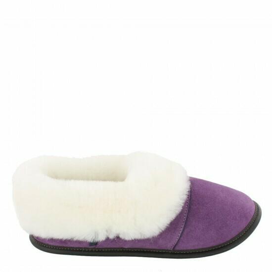 Ladies Low-cut - 5/5.5 Laser Purple / White Fur: Garneau Slippers