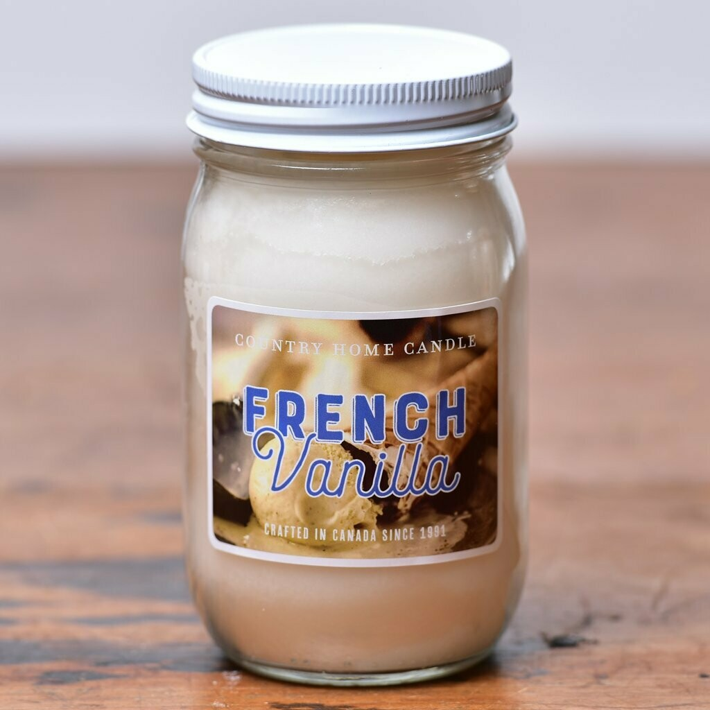 French Vanilla - Small Jar - Country Home Candle
