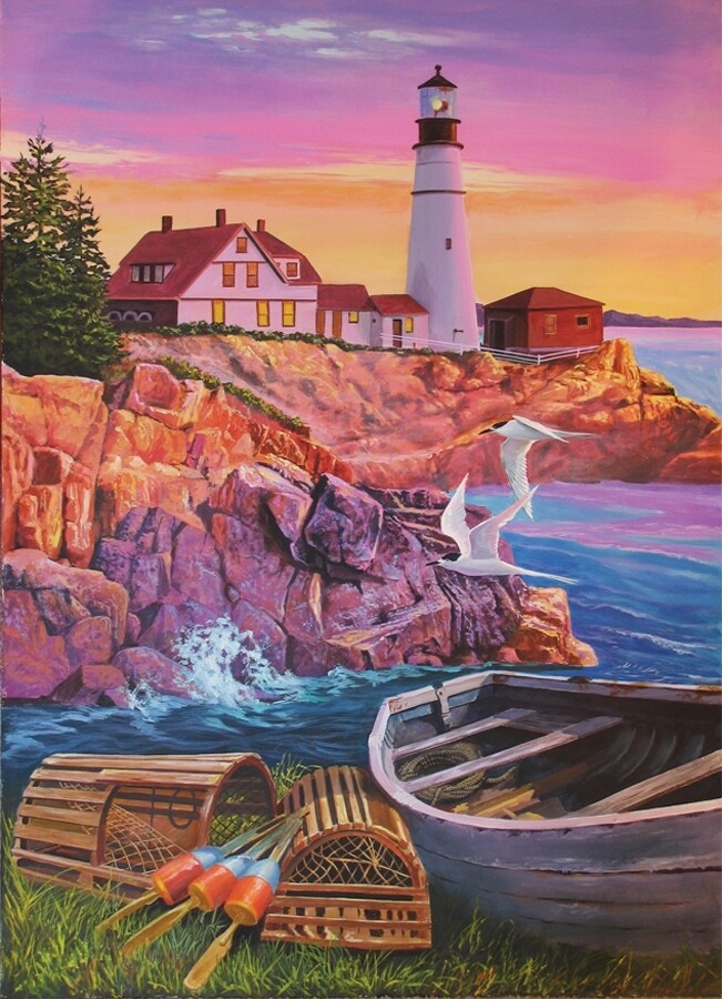 Lighthouse Cove - Easy Handling - 275 Piece Cobble Hill Puzzle