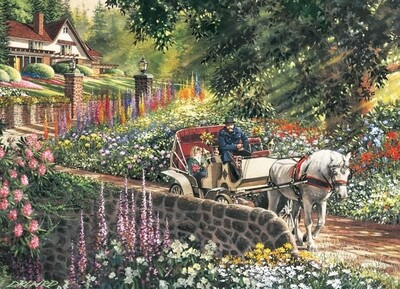 Carriage Ride - Easy Handling - 275 Piece Cobble Hill Puzzle