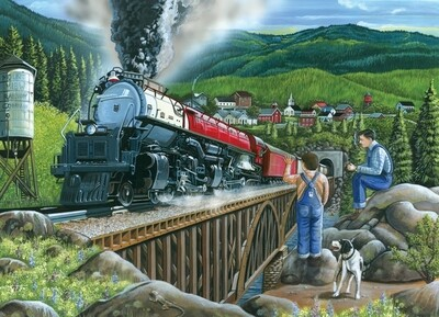 Steaming Out of Town - Easy Handling - 275 Piece Cobble Hill Puzzle